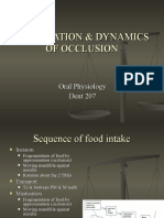 Mastication & Dynamics of Occlusion