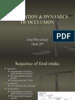 Mastication & Dynamics of Occlusion