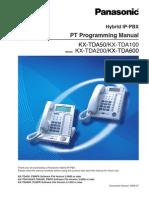 Panasonic KX-TDA Programming Manual