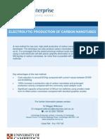 Electrolytic Production of Carbon Nanotubes - Fra-1167-03