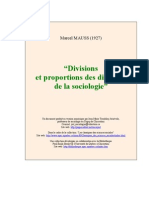 Divisions Sociologie MAUSS