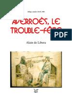 Alain de Libera = Averrأ²es, le trouble-fأھte