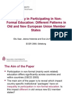 [Word version - full paper] - Inequality in Non-Formal Education Participation