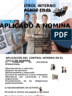 Informe coso aplicación a nomina