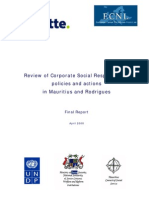 Review of CSR Policies in Mtius