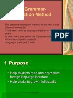 The Grammar- Translation Method