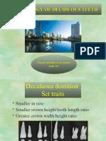 Morphology of Deciduous Dentition