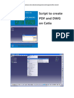 Cv 5 Script to Create PDF and DWG on Catia