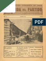 VIDA DEL PARTIDO N°5 - Abril 1965 - BoletÍn de la Comisión Nacional de Organización - Partido Comunista de Chile.