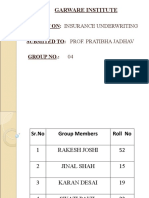 Insurance – Underwriting Guidelines