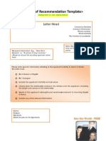 EPIK Form - Reference Letter Template