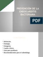 Prevención de la endocarditis bacteriana