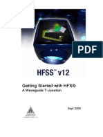 HFSSv12 Waveguide T-Junction