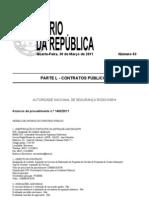 Aquisição de serviços de elaboração de propostas de decisão de propostas de contra