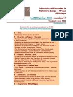 LAMPEA-Doc 2011 – numéro 17 / Vendredi 6 mai 2011