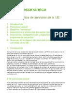Tema 9. P. de Servicios de La UE