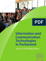 Information and Communication Technologies  in Parliament  TOOLS FOR DEMOCRACY