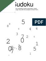 20 Sudoku Puzzles Book 01