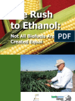 The Rush to Ethanol