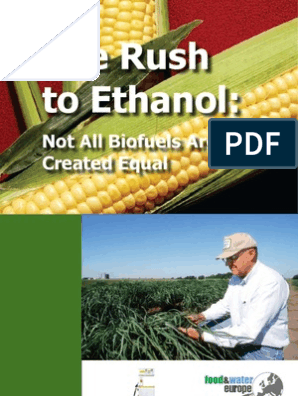 The Rush To Ethanol Not All Biofuels Are Created Equal Biofuel Biodiesel
