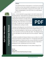Forest Green April Newsletter (2011)