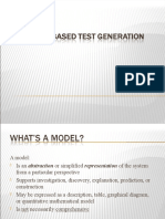 Model Based Test Case Generation