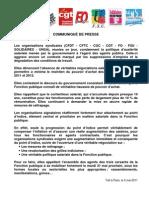 Communique Intersyndicale FP Du 5 Mai 2011