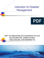 Introduction to Disaster Management