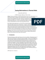 Analysis of Casing Deformations in Thermal Wells