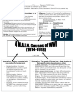 Handout a.4 MAIN Causes of WWI