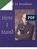 Joseph M Branham Here I Stand