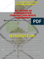 Ecm 735 - Cost Saving Iin Waste Mgt. Ppt