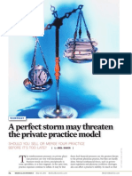 A Perfect Storm May Threaten the Private Practice Model