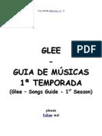 Glee - Songs Guide 1 Season (Guia de Músicas 1ª Temporada)