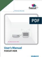 Foxsathdr Manual 100gb