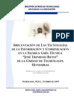 Implantacion TIC EcuelaGuiaTecnica-JTR Honduras