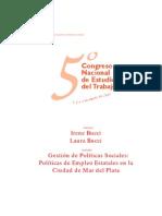BUCCIYBUCCI Politicas de Empleo Mdq 2001