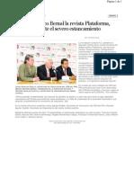 05-05-11 Presenta Marco Bernal La Revista Plataforma