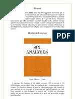 Six Analyses