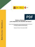 Cultura y Desarrollo Informe Reunion