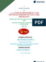 31375954 Project Report on Aviva Life Insurance