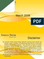 Anglo Swiss Presentation