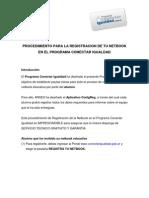 Conectar Igualdad - Procedimiento de registración de las netbooks