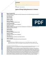 A Multisite Investigation of Binge Eating Behaviors in Children