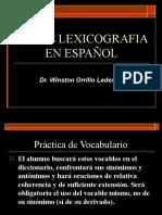 lexicografia en español