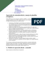 Separación de contenidoPHP