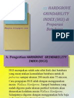 HARDGROVE GRINDABILITY INDEX (HGI) di Preparasi