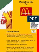 13142703 Marketing MixMcdonalds India