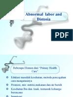 Abnormal Labor and Distosia