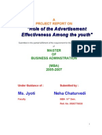 Role of Advertisement Effectiveness Among the Neha